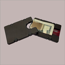 Black Aluminum Credit Card Holder/Wallet Money Clip with RFID Protection