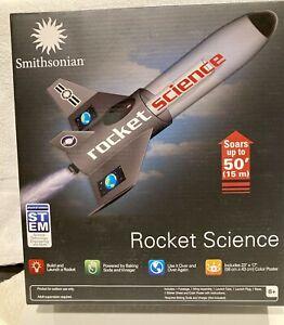 Smithsonian ROCKET SCIENCE Kit~Build & Launch A Rocket~Reusable~STEM - Brand New