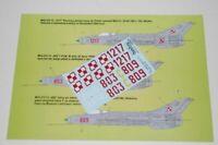 Model Maker Decals 1/48 Mikoyan MiG-21F-13 En Vernis Service #D48003