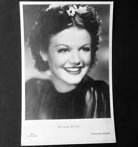 simone simon cartolina rare postcard vintage anni 30 cartoline american actress