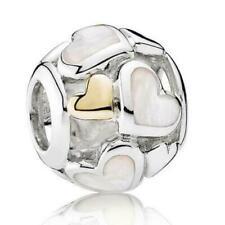 Genuine PANDORA Ale S925 & 14ct Gold Loving Circle Charm 792009CZ