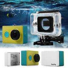 Waterproof Backdoor Housing Case+2400mAh Backup Battery for DVR Xiaomi Yi Camera