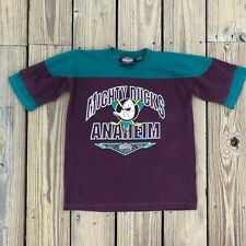 Vintage Pro Edge Mighty Ducks Anaheim NHL Top T-Shirt YOUTH Size Large L