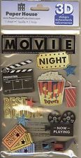 """Movie Nite"" 3-D Stickers - Paper House Productions"
