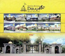 Royal Palaces Malaysia 2011 Building Place Palace (sheetlet) MNH