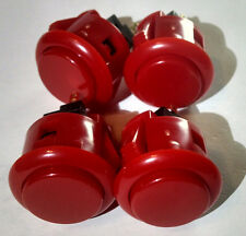 Red Sanwa arcade button OBSF-24 set of 4