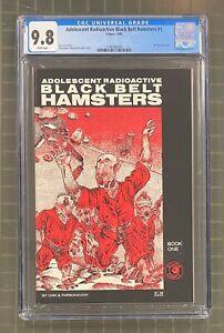ADOLESCENT RADIOACTIVE Black Belt Hamsters #1 Eclipse 1986 CGC 9.8