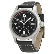 Hamilton Khaki Field Automatic Black Dial Black Leather Mens Watch H70595733