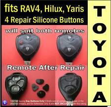 fits TOYOTA Hilux, RAV4, Yaris remote key - 4 Repair Silicone key Buttons (1set)
