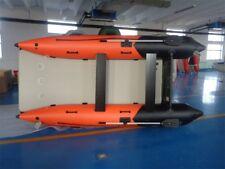Schlauchboot Cat 4,20m x 2,0m mit Hochdruckboden Orange/ Schwarz Neu!