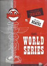 1948 World Series Program baseball Boston Braves Cleveland Indians Gm 5 scored