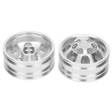 Front Wheels Rims Hubs +7 Spokes Upgrade Component For Tamiya 1/14 Tractor Truck