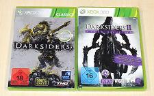 2 Xbox 360 juegos colección Darksiders 1 & 2 II-First Edition - 100% UNCUT
