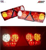PAIR 12V LED REAR TAIL LIGHTS LAMP 6 FUNCTION TRAILER CARAVAN TRUCK LORRY