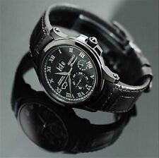 New Seiko SNP045 Premier Kinetic Perpetual Black Leather Men's Watch