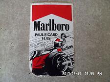 AUTOCOLLANT MARLBORO PAUL RICARD F1 1982      K54