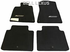 NEW LEXUS OEM FACTORY F-SPORT FLOOR MAT SET 2007-2011 GS350 BLACK RWD