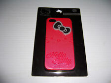HELLO KITTY RED WITH BLACK & GRAY BOW  CELL PHONE CASE IPHONE 5 NEW!