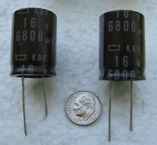 4 pcs Nippon 6800uF 16V 105°C radial KRF series Electrolytic Capacitors