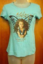 MILEY CYRUS juniors small T shirt Wonder World Tour tee 2009 Hannah Montana