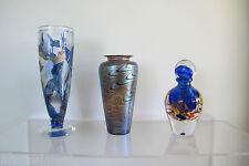 HUGE 2kg SIGNED Novaro Art Glass ON THE RIGHT. 21cm Ht French Studio.Murano era.