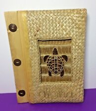 "Turtle Aloha Photo Album Natural Material Made 8""x5.5"" Page Size 4""x6"" Photos"