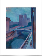 HENRI MATISSE VIEW FROM NOTRE DAME LIMITED EDITION BIG BORDERS ART PRINT 18X24