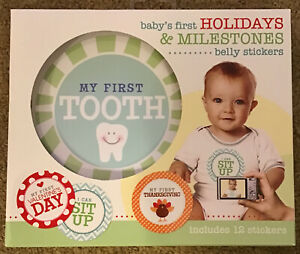 Baby's First Milestone & Holidays Belly Stickers by Stepping Stones