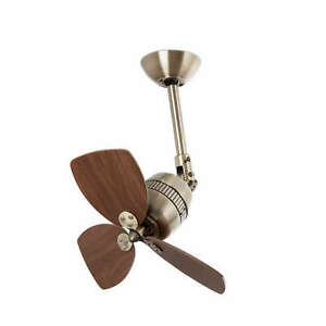 """Small ceiling fan with wall speed controller VEDRA antique gold 46 cm / 18"""""""