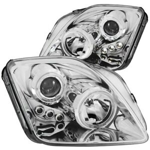 ANZO for 1997-2001 Honda Prelude Projector Headlights w/ Halo Chrome w/ LED - an