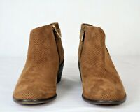 Vince Camuto Suede Booties with Buckle Detail Parveen Pumpernickel 8M EUC