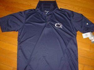 PSU PENN STATE NITTANY LIONS Champion  3 Button KNIT T-Shirt NEW   sz..  MEDIUM