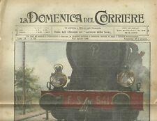 La Domenica del Corriere 8 - 15 Agosto 1909 Marcia dei Bersaglieri in Bicicletta