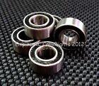 BLACK (10 PCS) (5x10x4 mm) MR105-2RS Rubber Sealed Ball Bearing Bearings MR105RS