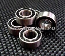 BLACK (50 PCS) (5x10x4 mm) MR105-2RS Rubber Sealed Ball Bearing Bearings MR105RS