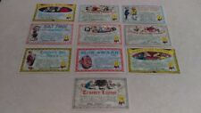 (10) Unused Topps 1964 Nutty Awards Postcards 5 1/4 x 3 1/8 (All Different) EXC