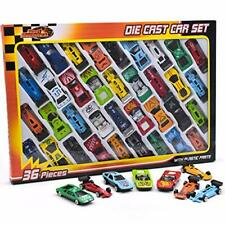 36pc Metal Die Cast Kids Cars F1 Racing Vehicle Children Play Gift Set Xmas Toy