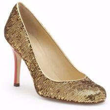 Kate Spade New York Karolina Twirl Gold Sequin Pump Heels