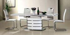 Edler Esstisch Säulentisch Hochglanz+ALU  AUSZIEHBAR bis 240cm modernes Design