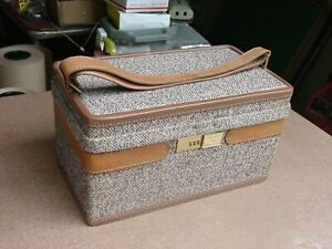 Hartmann Leather and Canvas Cosmetics Travel Case