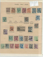 Italy Stamps On 2 Pages Ref: R7279