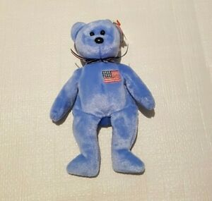 TY Beanie Baby September 11 Twin Towers America The Patriotic Blue Bear 2001