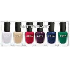 Zoya Winter Holiday Matte Velvet 6pc Set #814-819 Aspen Sue Amal Iris Yves Honor