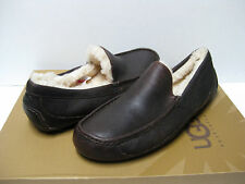 UGG ASCOT MEN SLIPPER LEATHER CHINA TEA US 12 /UK 11 /EU 45.5
