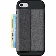 Incipio iPhone 8 7 6s 6 Esquire Wallet Card Storage Case Cover Black/grey