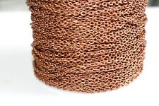 15ft Red Copper 3x2m Chain- Round Links 1-3 day Ship