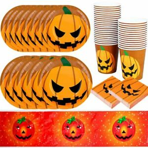 Halloween Festival Party Scary Pumpkin Tableware Disposable Dinnerware for Party