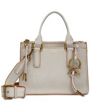 Calvin Klein Brynn Suede Crossbody -Light Grey/Brass - BRAND NEW