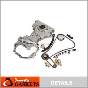 Fit 07-09 Nissan Altima &Hybrid 2.5L DOHC Timing Chain Oil Pump Kit QR25DE