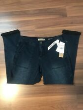 NINE WEST Vintage Dumont Jogger Knit Jeans Crop Dark Wash Sz 26